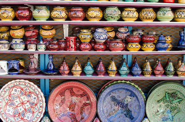 Traveling in Chefchaouen Morocco - Buying Dishware