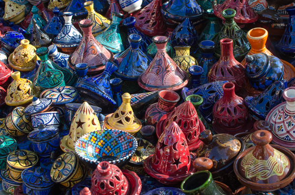 Traveling in Chefchaouen Morocco - Buying Pottery
