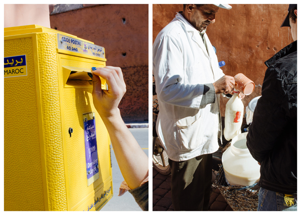 Visiting Marrakech Morocco :: Carte Postale and Fresh Milk