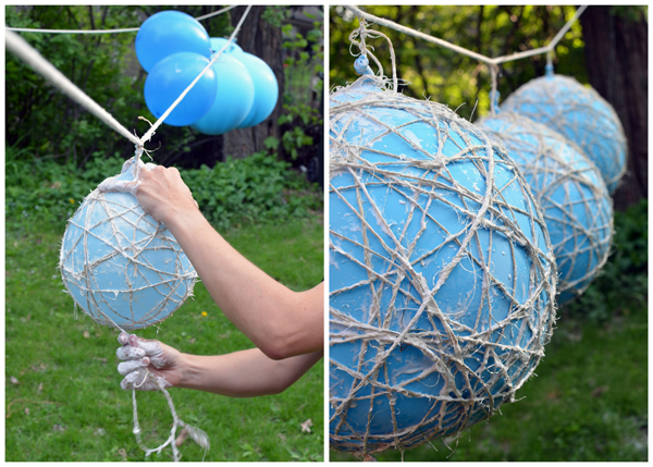 DIY :: Hanging Twine Balls - for a party or wedding!