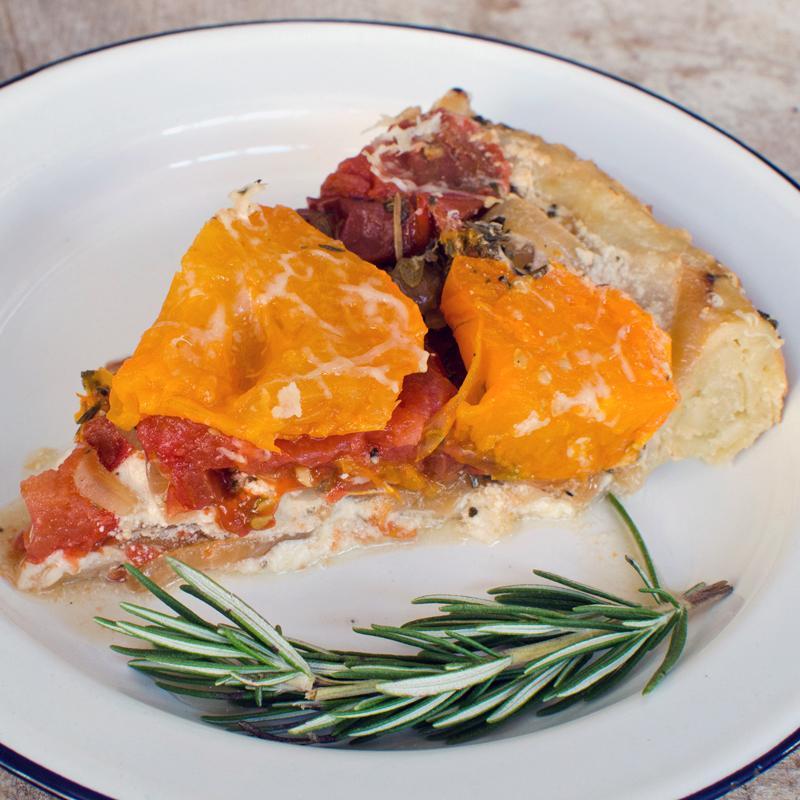 Heirloom Tomato Tart Tatin - A Side of Sweet