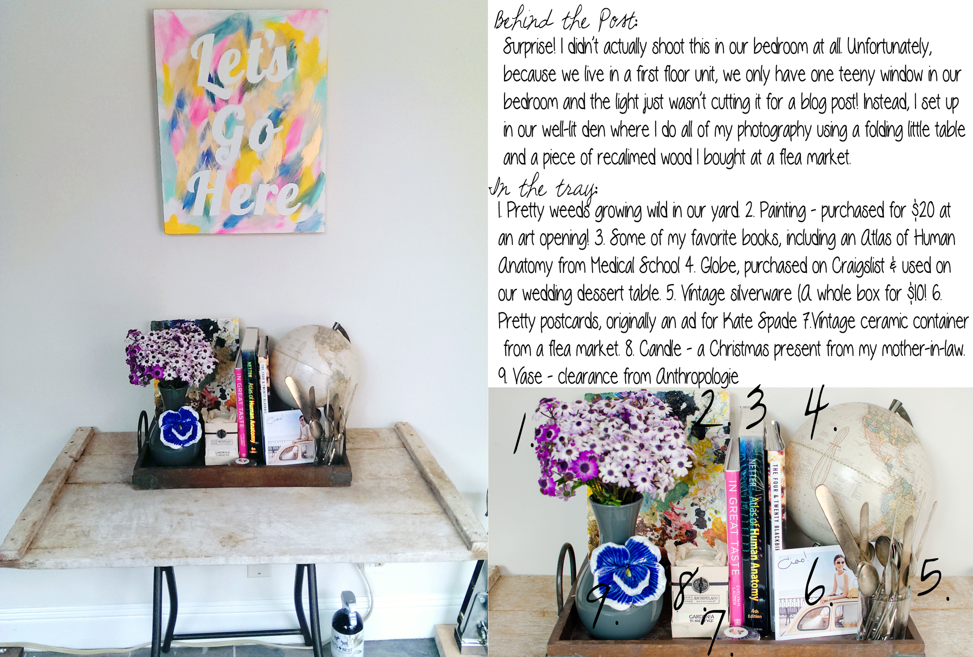 Behind the Post - Pretty Hanging Wall Art DIY