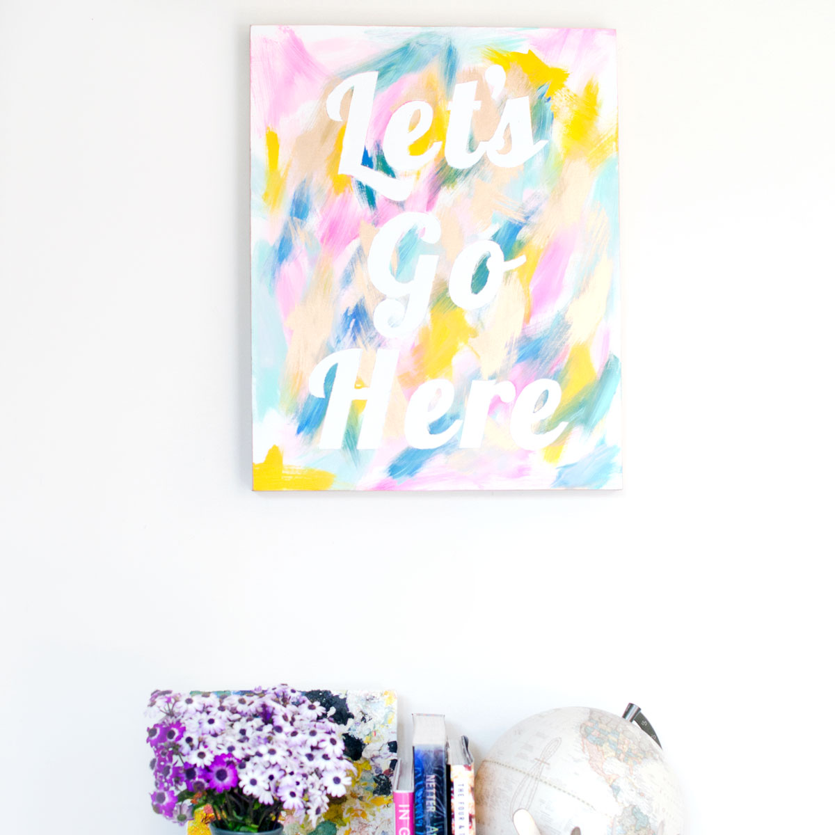 Easy Pretty Painted Wall Art DIY