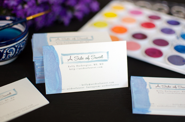 Dip dye watercolor business cards a side of sweet dip dye watercolor business cards make your business cards stand out colourmoves