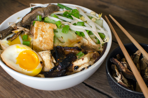 Vegetarian Homemade Ramen Bowls Recipe - Not your dorm room ramen!