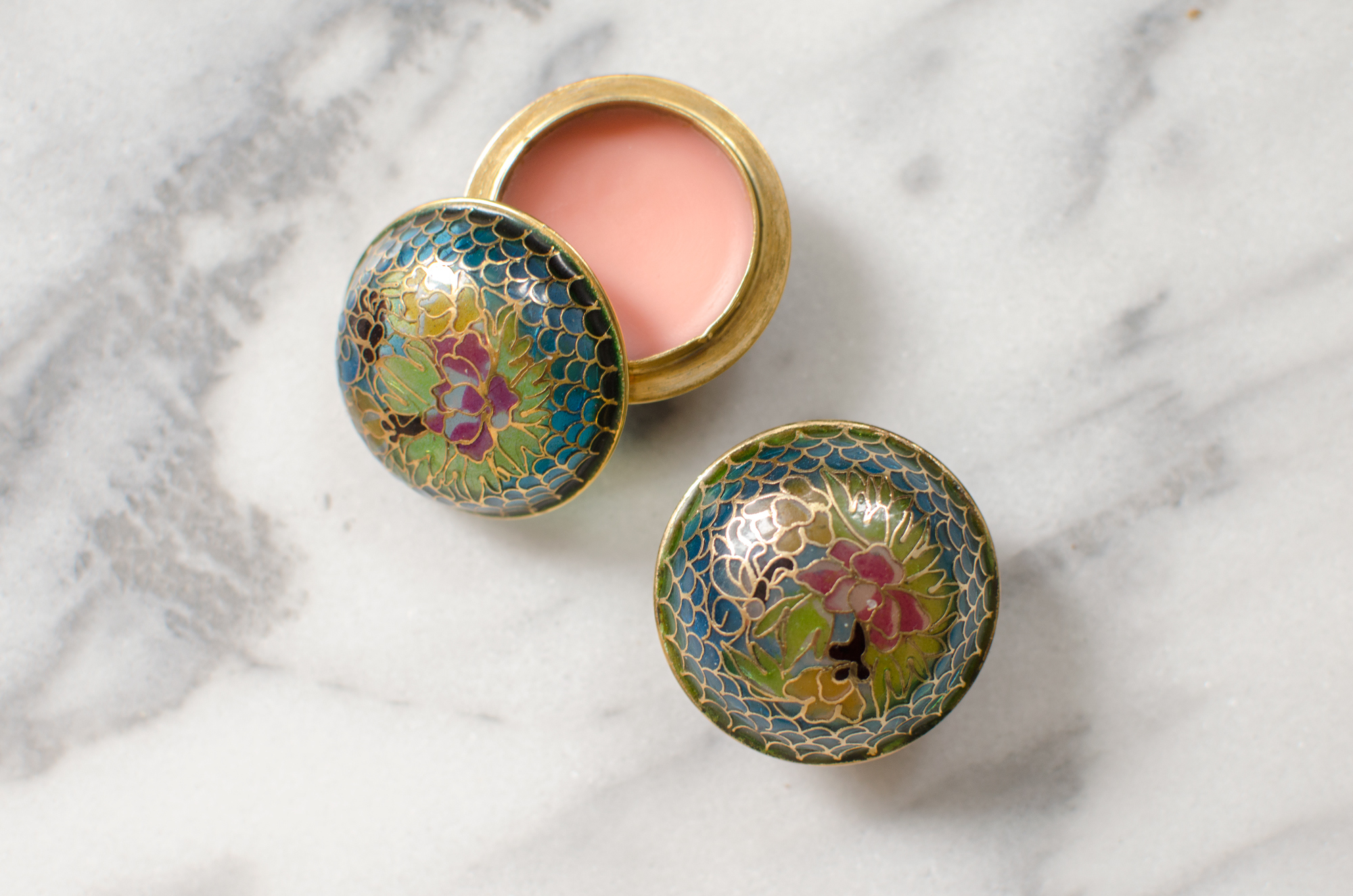 DIY Homemade Lip Balm in Vintage Pillboxes