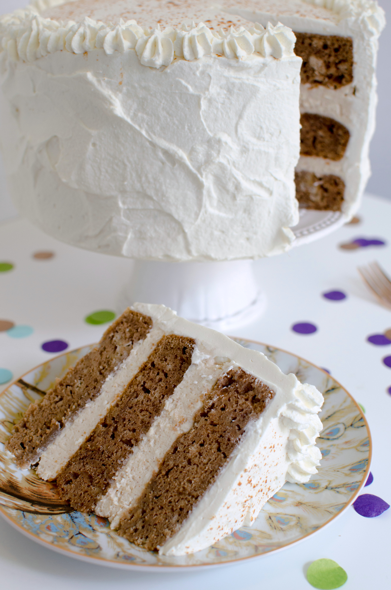 Maple Cream Cheese Frosting chai cake with maple cream cheese frosting - a side of sweet