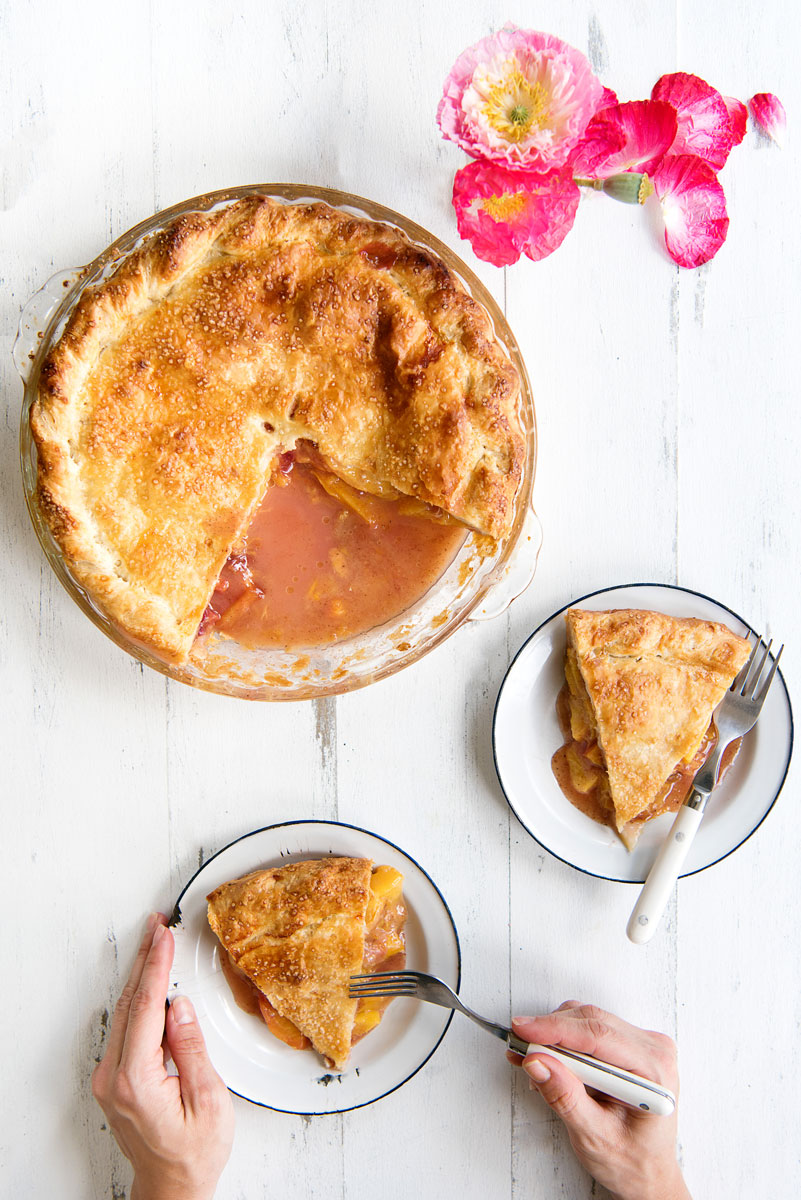 BEST Fresh Peach Pie Recipe with All Butter Pie Crust