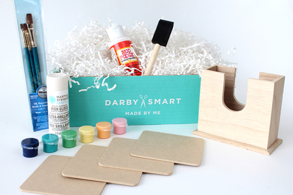 DIY Painted Wood Coasters Kit from Darby Smart