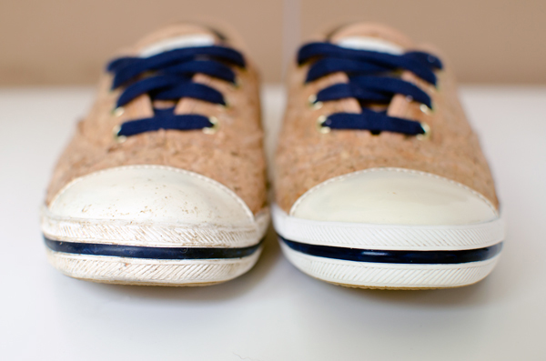 Creative Uses for a Mr. Clean Magic Eraser :: Making Sneakers White