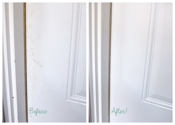 Creative Uses for a Mr. Clean Magic Eraser :: Cleaning Door Stains