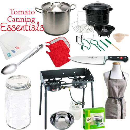 Tomato Canning Essentials Shopping List