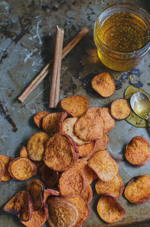 Cinnamon Honey Sweet Potato Chips Recipe