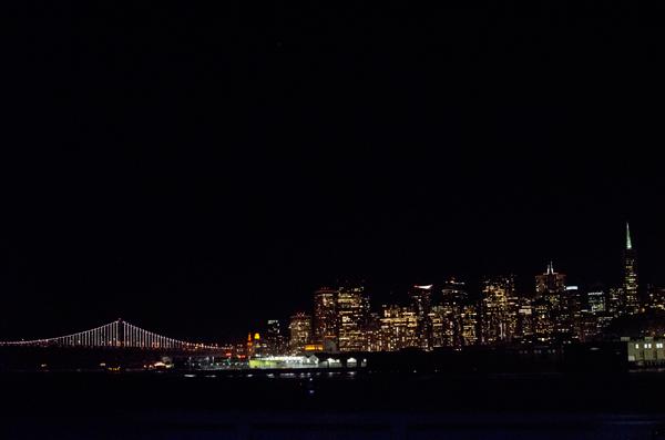 View of San Francisco and East Bay Bridge