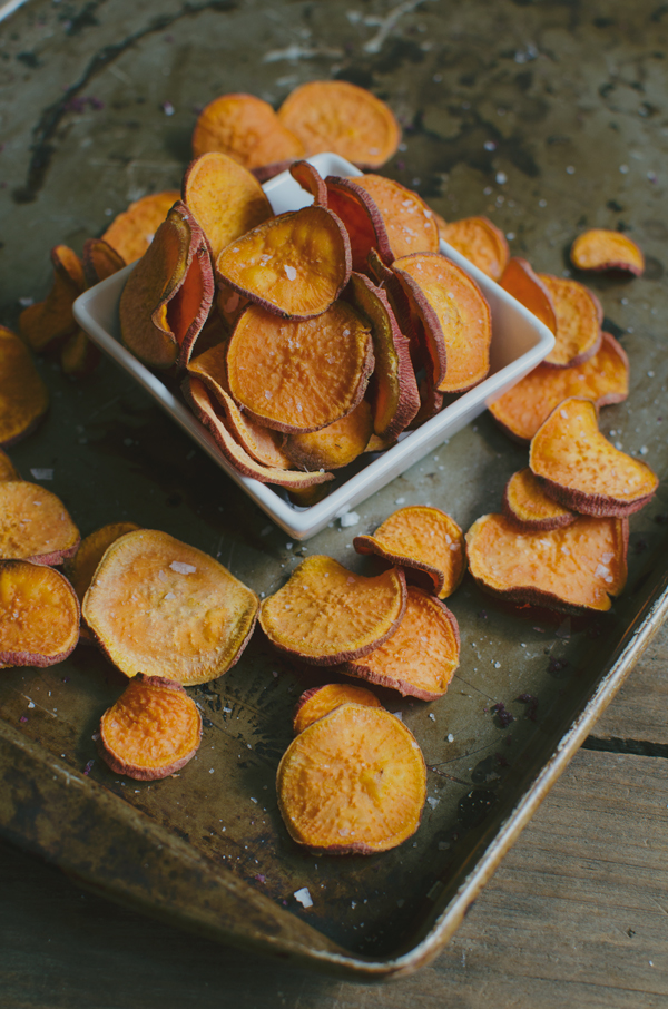 Sweet Potato Chips Recipe - Sea Salt and Vinegar