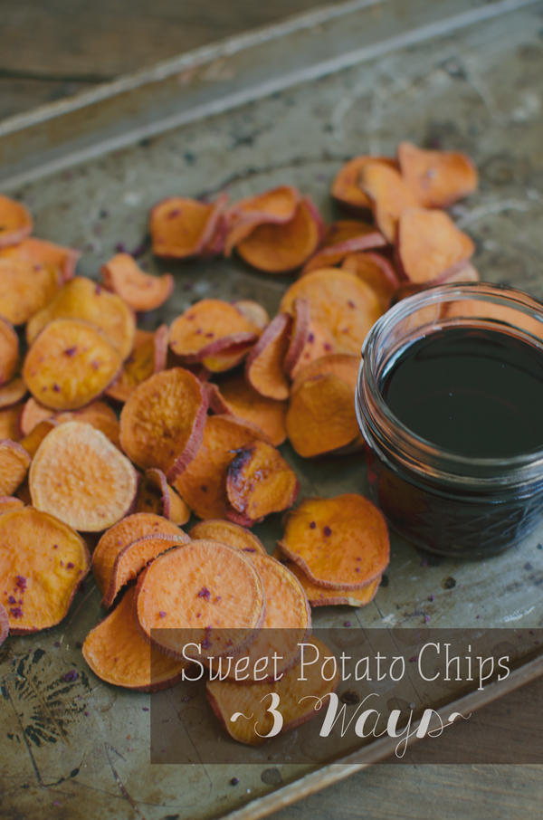 Sweet Potato Chips Recipe Three Ways