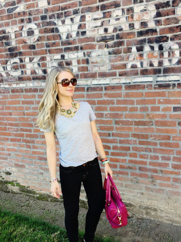 OOTD :: Black jeans and statement necklace