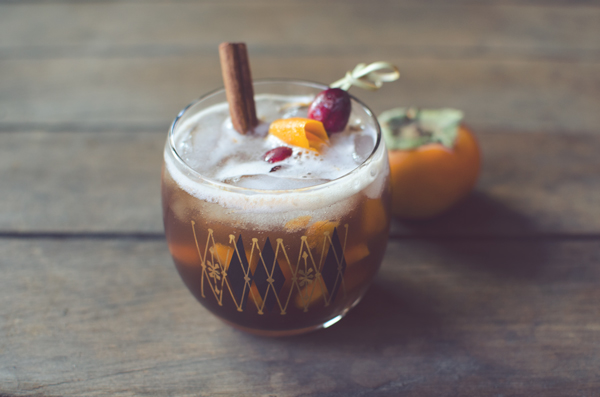 Holiday Cocktail Ideas :: Persimmon Old Fashioned
