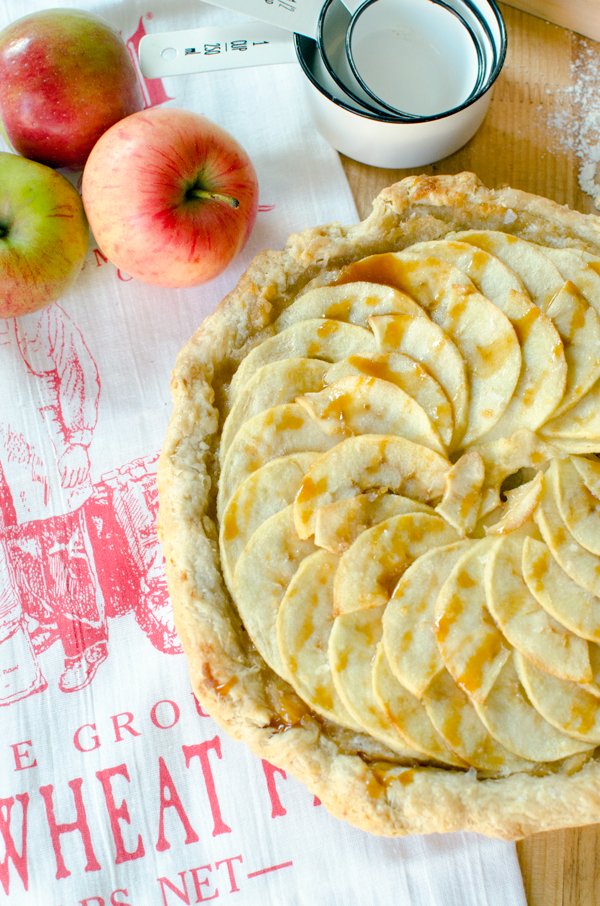 AMAZING Salted Caramel Apple Tart Recipe with opt Gluten Free Crust