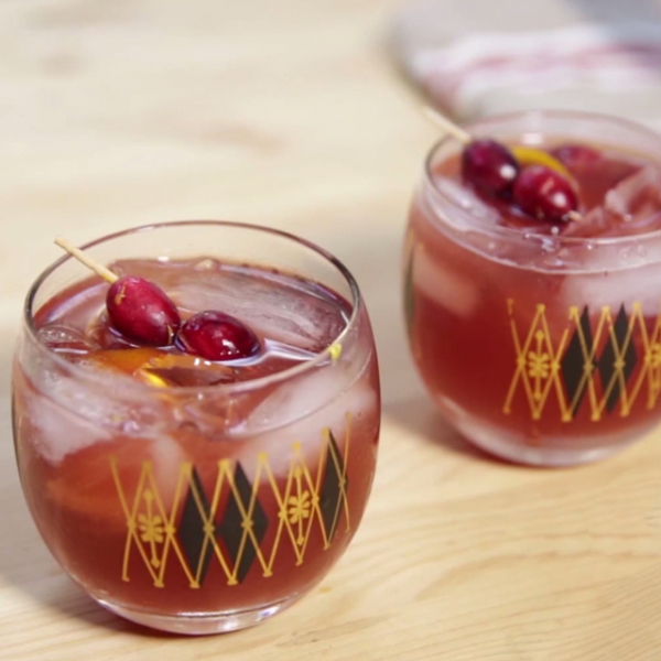 Cranberry Old Fashioned - A Side of Sweet