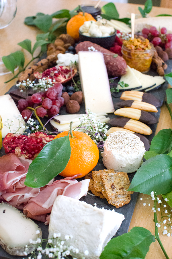 Charcuterie Basics - the perfect fancy fruit, cheese and prosciutto platter