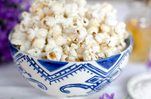 Healthier Super Bowl Recipes - Sea Salt and honey popcorn