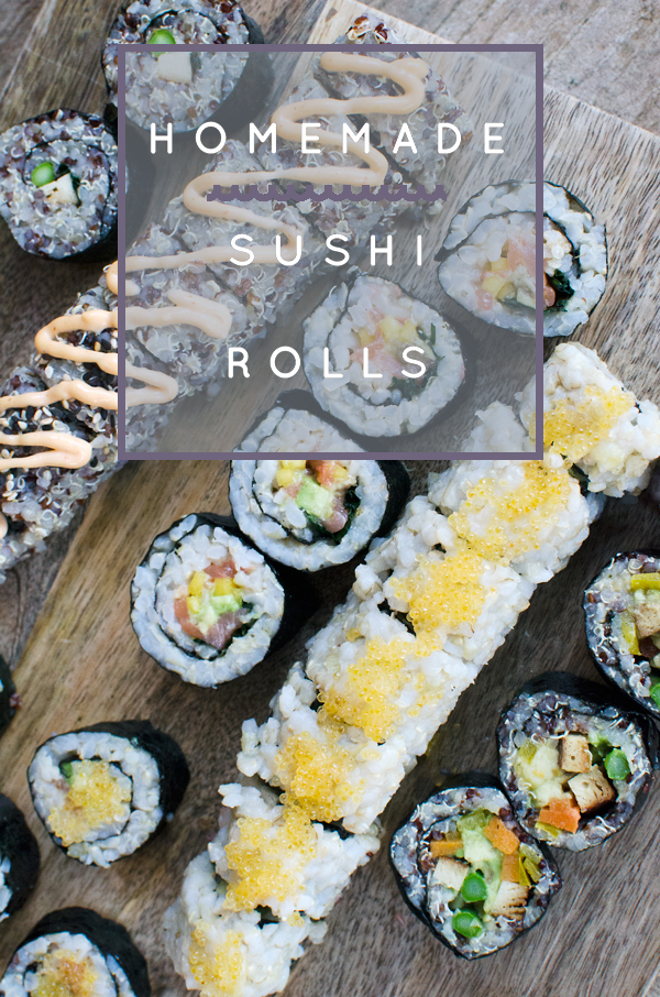 Homemade Sushi Date Night :: Homemade Quinoa Sushi Rolls Recipe