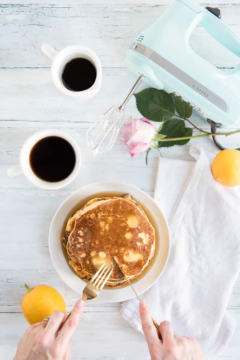 AMAZING Lemon Ricotta Pancakes Recipe from San Francisco's Plow Restaurant