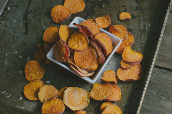 Healthy Super Bowl Recipes - Sweet Potato Chips