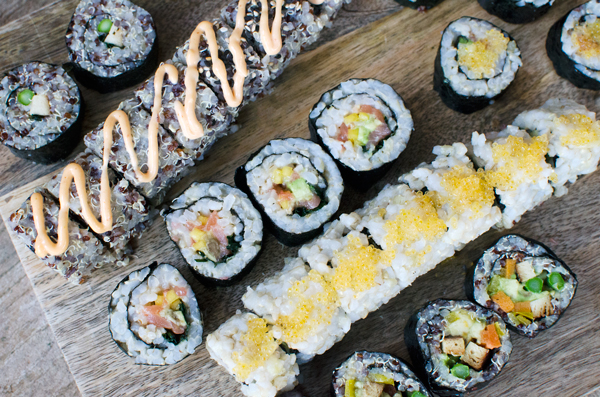Homemade Sushi Date Night :: Making vegetarian and vegan sushi rolls