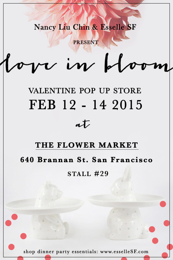 Esselle SF Valentine's Day Popup San Francisco Flower Market