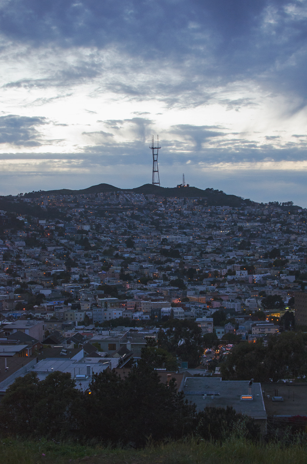 Best San Francisco Skyline Views // Bernal Heights