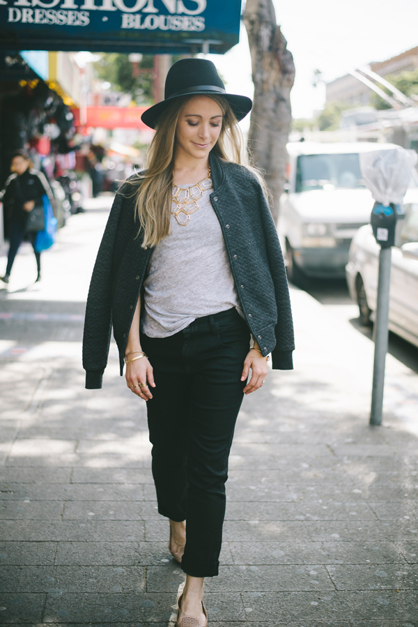 Minimalist Aesthetic - Wearing shades of grey and black