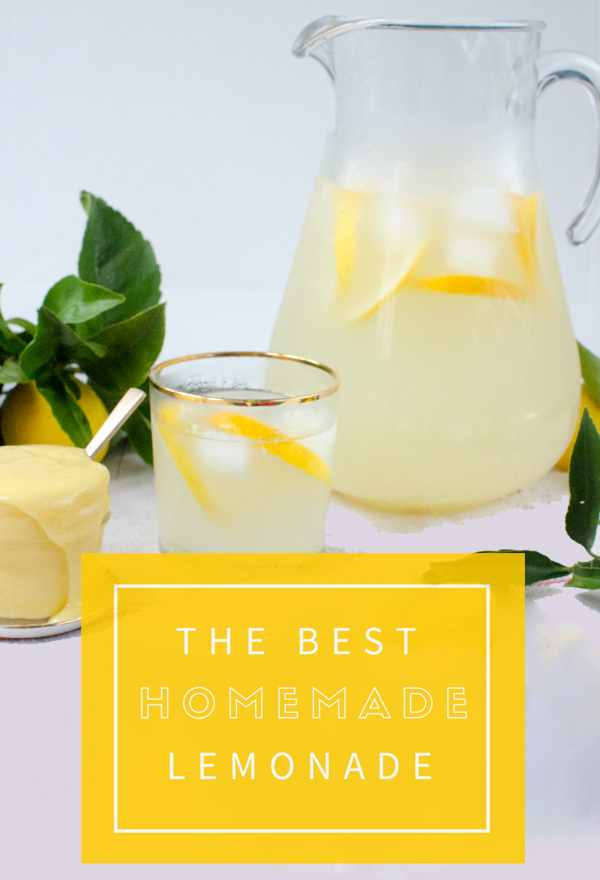 The Absolute Perfect Homemade Lemonade Recipe!