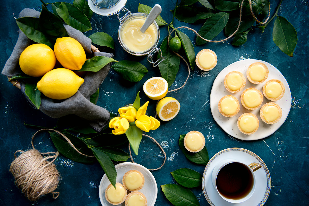 Lemon Tartlets with Lemon Curd Recipe for Bite Sized Desserts