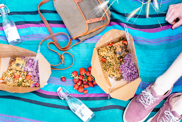 Beautiful picnic photo inspiration + Rustic Strawberry Galette Recipe