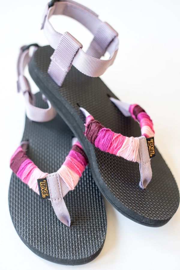 DIY Upcycled Teva Sandals + A Fun San Francisco Workshop!
