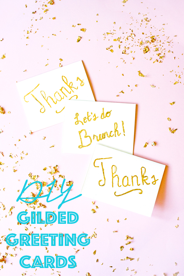 A gorgeous easy DIY gilded greeting card