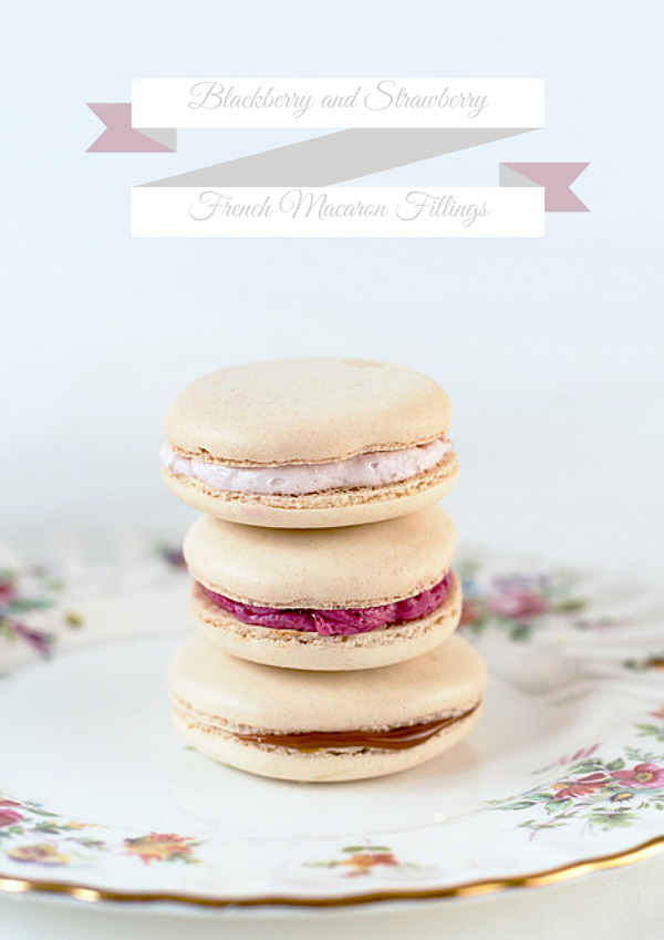 Making french macarons with a recipe for blackberry filling