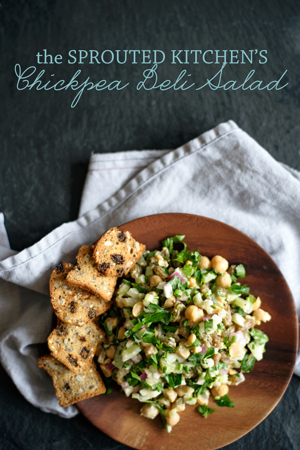 Chickpea deli salad from the sprouted kitchen a side of sweet sprouted kitchen bowl spoon vegan chickpea deli salad recipe healthy and easy forumfinder
