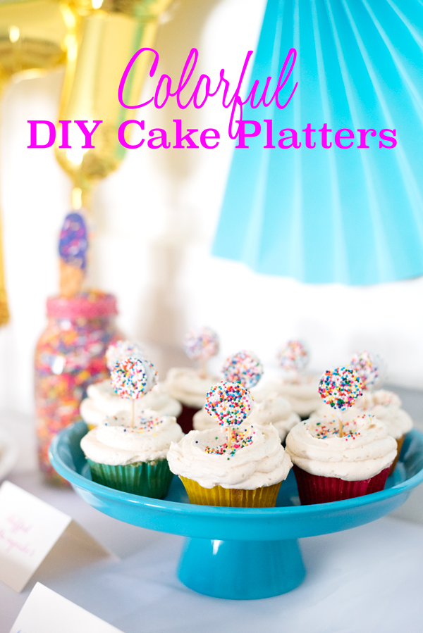 Easy Colorful DIY Cake Platters  sc 1 st  A Side of Sweet & Easy Colorful DIY Cake Platters - A Side of Sweet