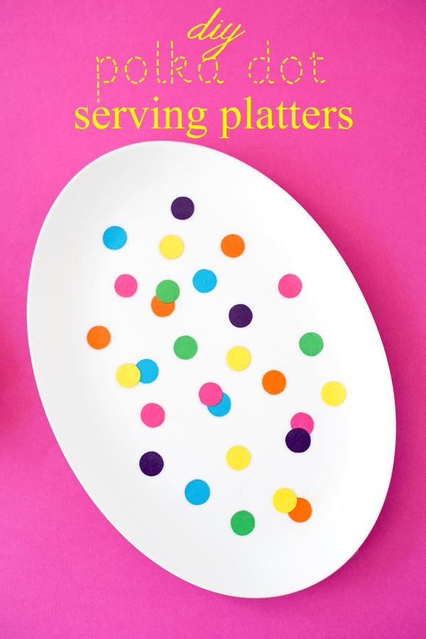 Genius! DIY a serving platter with just colored paper and decoupage!
