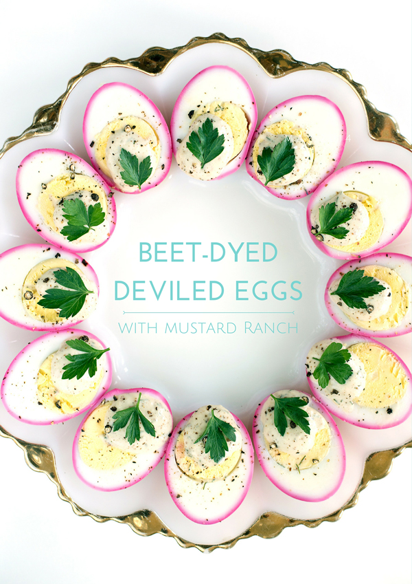 How to Make Beet-Dyed deviled eggs with recipe for mustard ranch deviled eggs