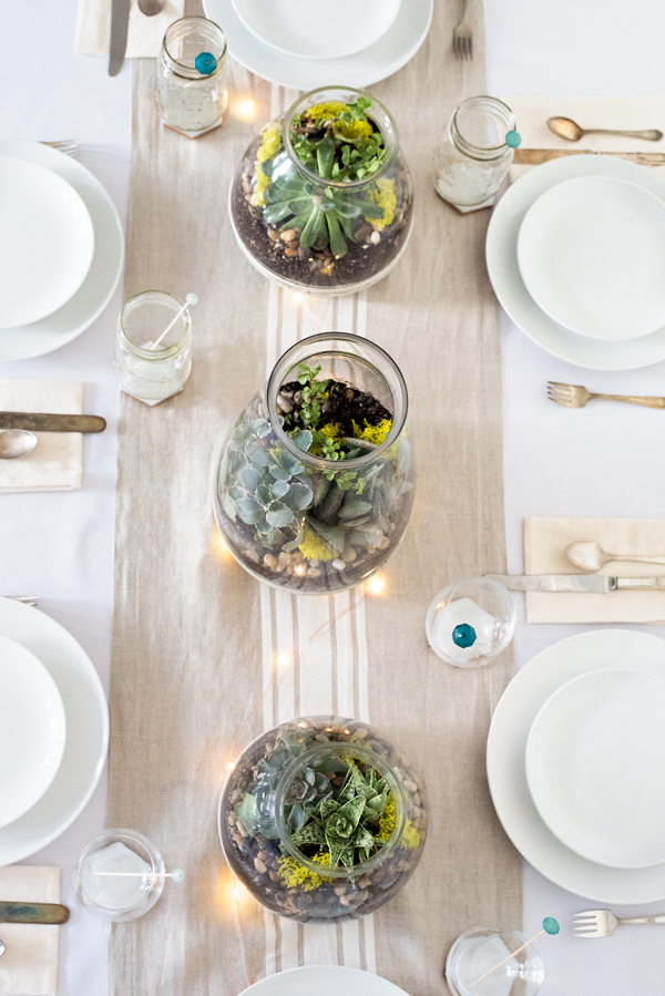 Rustic Wedding Succulent Centerpiece Table Design DIY - great party inspiration!