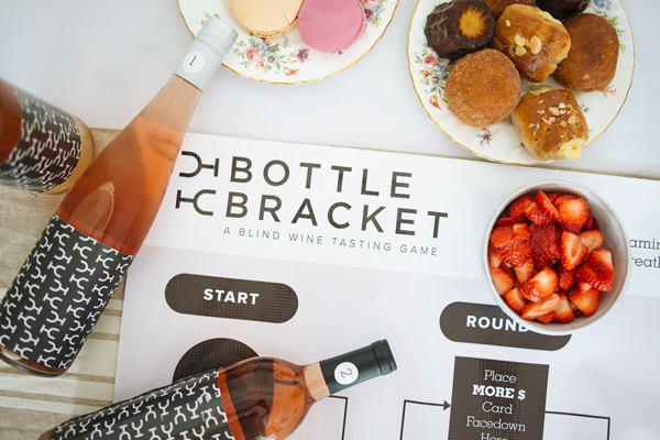 Ladies Night Ideas - Bottle Bracket Wine Game