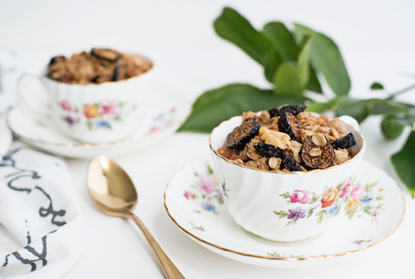Best Granola Recipe Ever! Fig Walnut - gluten free and vegan