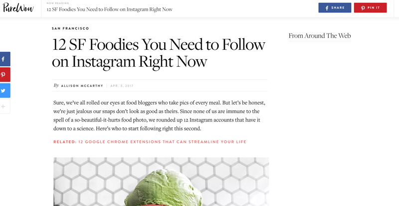 Best San Francisco Food and Travel Blogs and Instagrammers