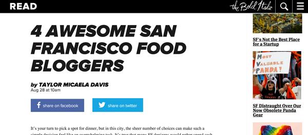 Best San Francisco Food Bloggers // The Bold Italic
