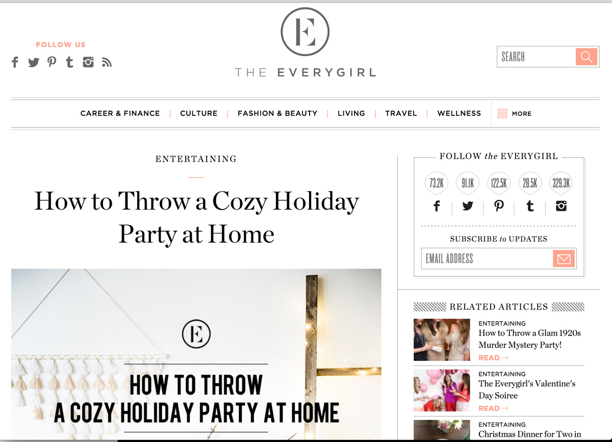 Everygirl Cozy Holiday Party Feature