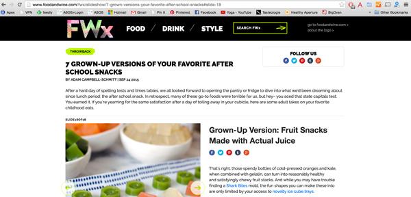 Fruit Snacks Food & Wine Magazine